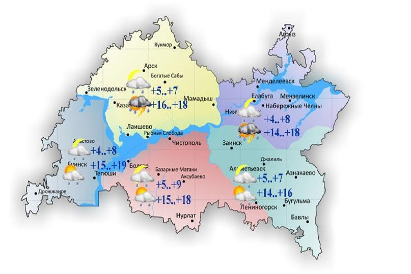 Лето-2017 вТатарстане: 8июня гроза, град иветер