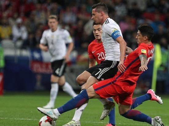 Сборная Чили сыграла вничью скомандой Австралии вматче Кубка конфедераций