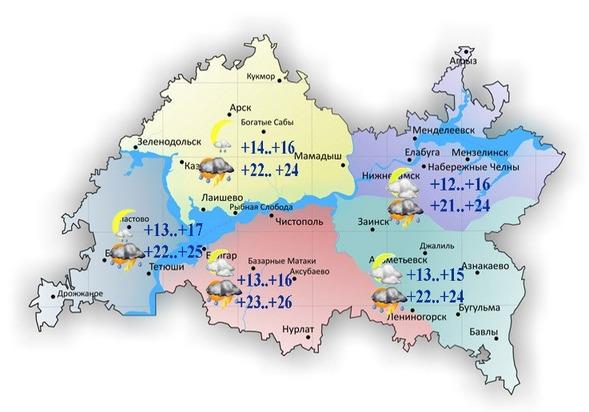 Сегодня вТатарстане предполагается шквалистый ветер идо +26