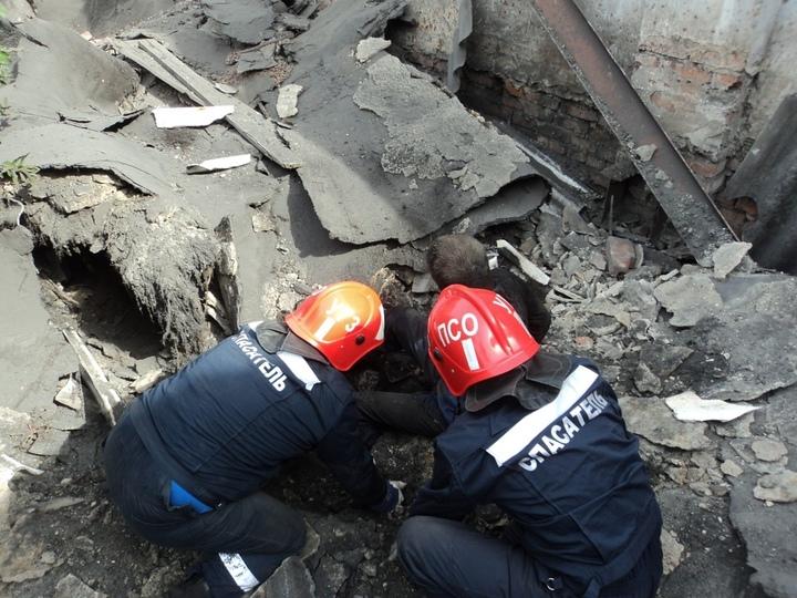 ВКазани наулице Тукая при обрушении старого дома мужчине зажало ногу