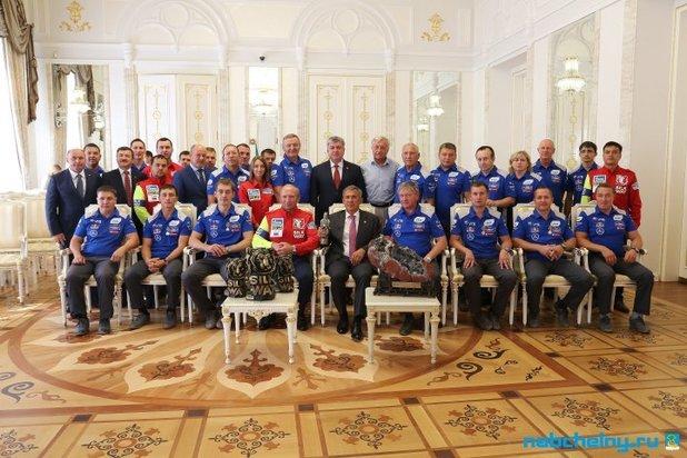 ВКазанском Кремле состоялся праздничный прием президента Татарстана иего супруги
