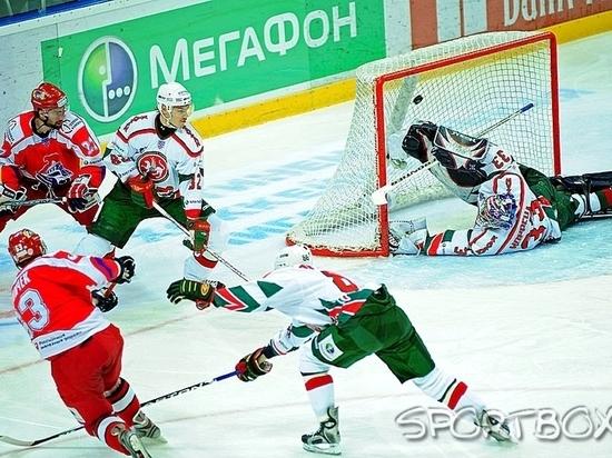 Две шайбы Коршкова помогли «Локомотиву» одолеть  «АкБарс» вматче КХЛ