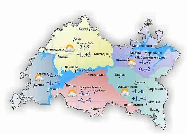 Холод иснег ожидаются 22октября вТатарстане