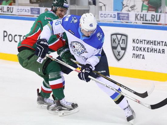 Лидер «Востока» КХЛ «Ак Барс» всухую обыграл «Барыс» 2:0