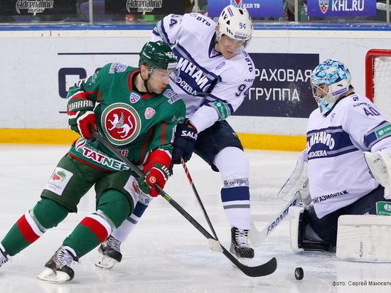 «АкБарс» разгромил столичное «Динамо» насвоем льду