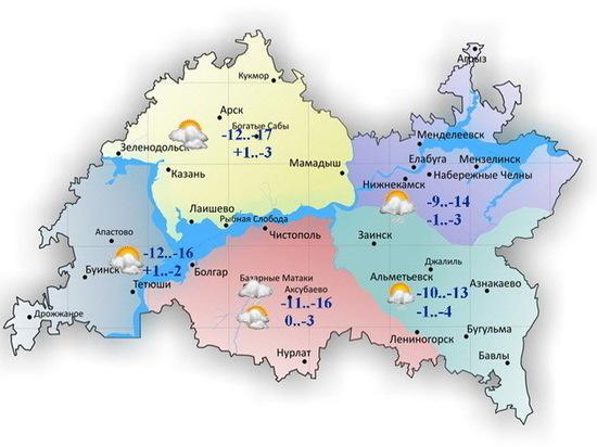 Ночью внекоторых районах Татарстана похолодает до-21