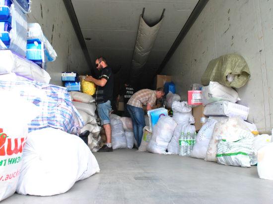 Гуманитарная помощь Донбассу идет по трассе М7